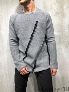 Sweter 7002s szary