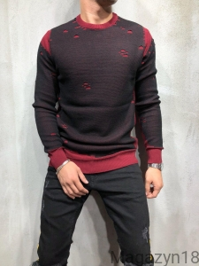 Sweter 7000c black-red