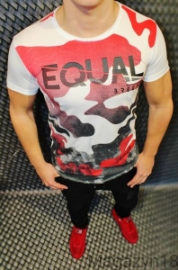 T-shirt 548 Breezy Equael red-white