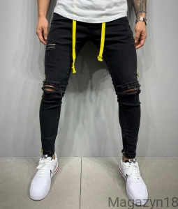New jeans 5597 black-yellow premium